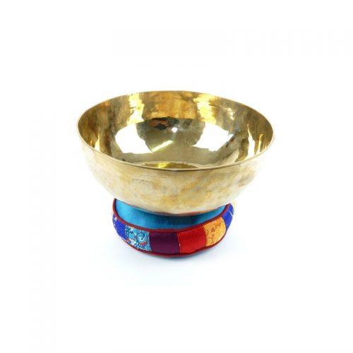 Tibetische Klangschalen von 1100g - 1200g, glänzend und dünnwandig mit Klangschalenkissen