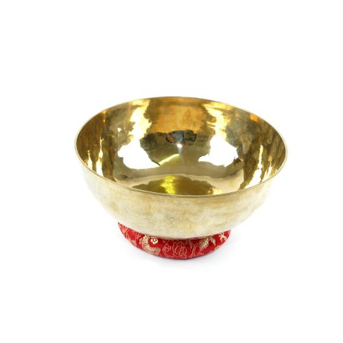 Tibetische Klangschalen von 1200g - 1300g, glänzend und dünnwandig mit Klangschalenkissen Ring