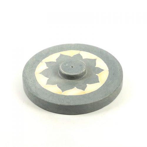 Räucherstäbchenhalter - Lotus mit Perlmutteinlage 10 cm | Räucherstäbchenhalter kaufen | Räucherzubehör