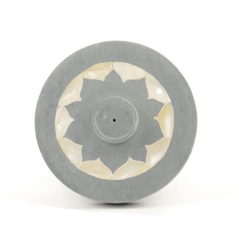 Räucherstäbchenhalter - Lotus mit Perlmutteinlage 10 cm