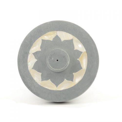 Räucherstäbchenhalter - Lotus mit Perlmutteinlage 10 cm | Räucherstächchenhalter kaufen | Räucherzubehör