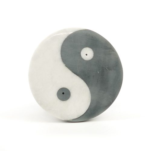 Räucherstäbchenhalter - Ying Yang aus Marmor 10 cm