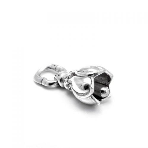 Silber Anhänger | Lotusglöckchen | Yoga Schmuck | Sterlingsilber