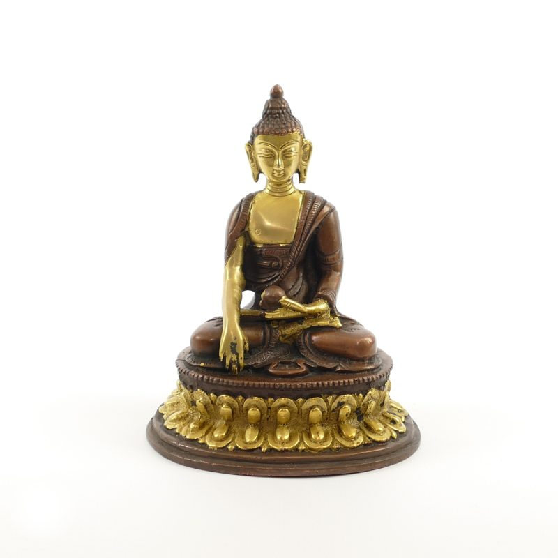 Buddha figur messing kupfer platiniert 12 cm yoga stilvoll for Buddha figur