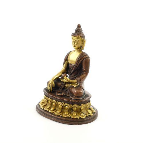 Buddha Figur | Shakyamuni Buddha | Messing | Größe 12 cm