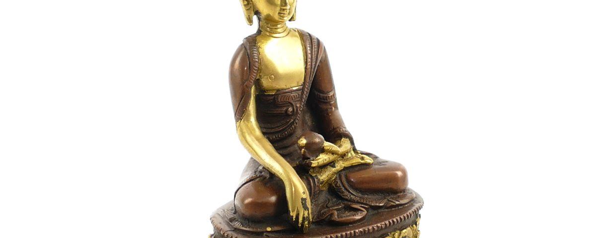 Buddha Figur | Shakyamuni Buddha | Messing | Größe 12 cm | Buddha kaufen | Buddha Figur kaufen