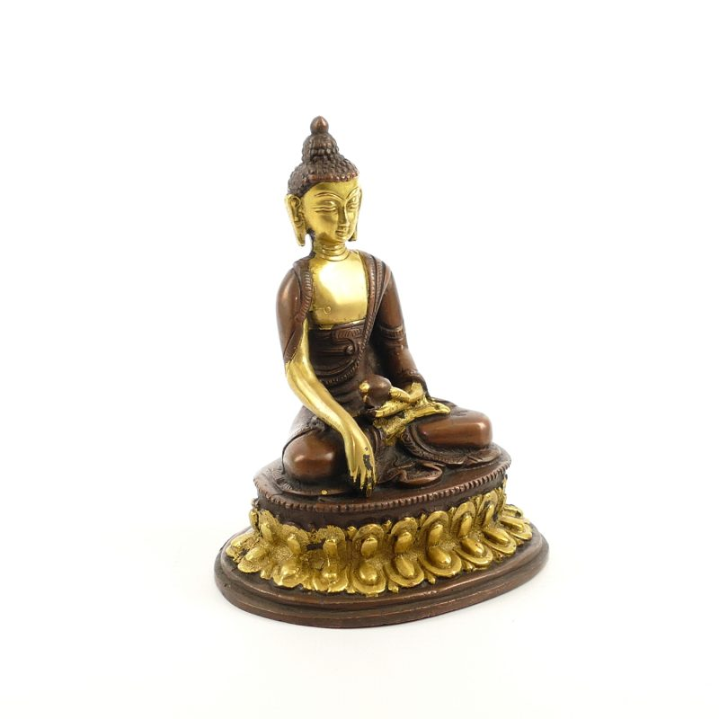 buddha figur messing kupfer platiniert 12 cm yoga stilvoll. Black Bedroom Furniture Sets. Home Design Ideas