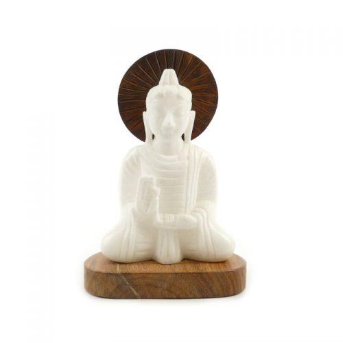 Buddha Figur Alabaster | Größe 16 cm | Buddha kaufen | Buddha Statue | Buddha Figur