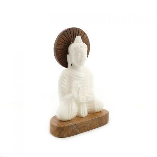 Buddha Figur Alabaster | Größe 16 cm | Buddha Statue | Buddha kaufen | Buddha Figur
