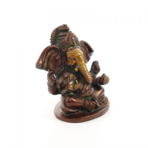 Ganesha Figur | Messing | Größe 10 cm | Ganesha Statue | Ganesha Figur kaufen | Ganesh Statue