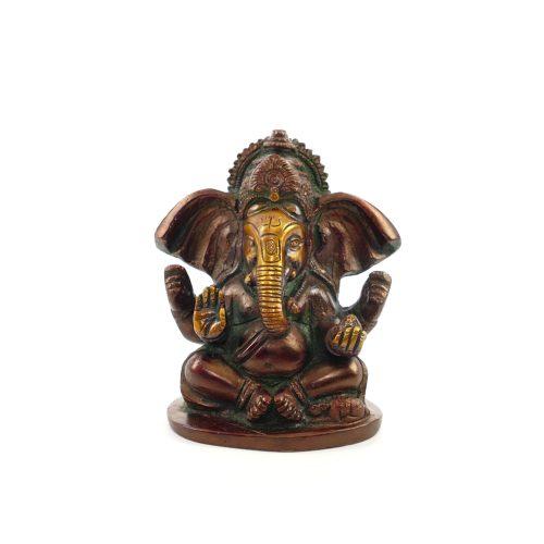 Ganesha Figur   Messing   Größe 10 cm