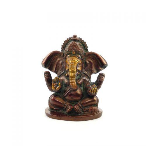 Ganesha Figur | Messing | Größe 10 cm | Ganesha Statue | Ganesha kaufen | Ganesha Figur kaufen | Yoga Stilvoll
