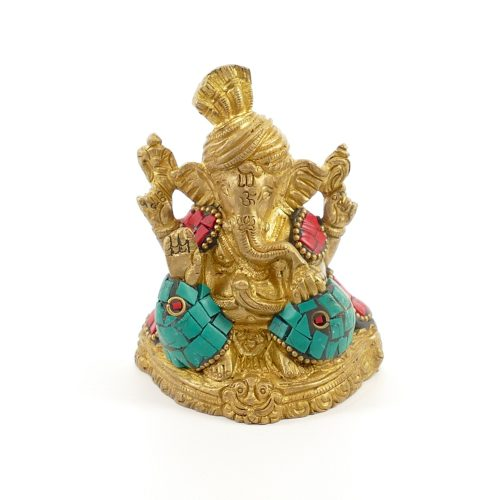 Ganesha Figur   Messing   Größe 8 cm