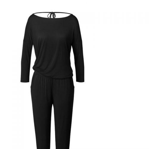 Jumpsuit von Curare - black | Yogabekleidung | Yoga Kleidung Damen | Yoga Overall | Yoga Jumpsuit