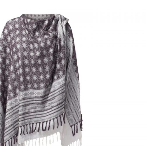 Poncho von Curare - Lavendel-dark aubergine | Yoga Kleidung | Yogabekleidung | Yoga Kleidung Damen | Poncho kaufen