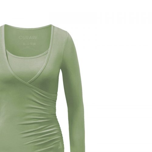 Yoga Shirt | Wrap Shirt von Curare | schilf | Yoga T-Shirt | Yoga Kleidung Damen | Yogabekleidung | Yoga Shirts