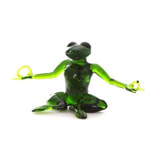 Yoga Frosch aus Glas
