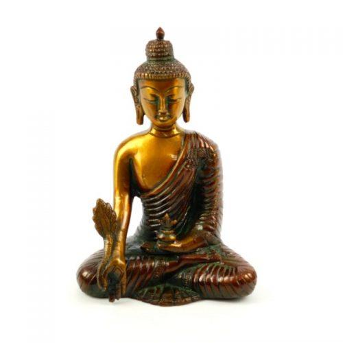 Buddha Figur Medizin-Buddha Messing Größe 16 cm | Medizin Buddha | Buddha Figur | Buddha Statue | Buddha kaufen | Yoga Stilvoll