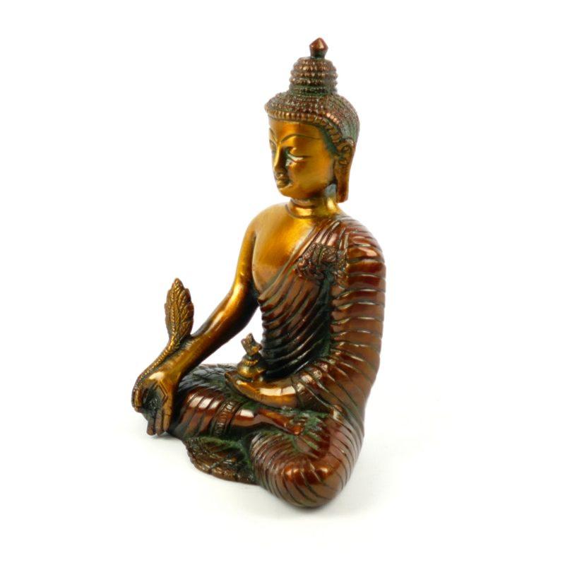 Buddha figur messing medizin buddha 16 cm yoga stilvoll for Buddha figur