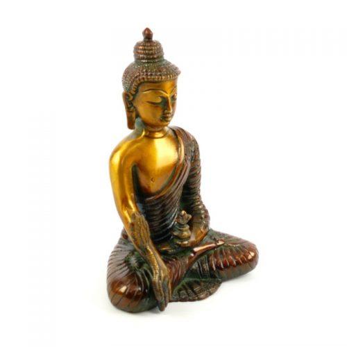 Buddha Figur Medizin-Buddha Messing Größe 16 cm | Buddha Figur | Buddha Statue | Buddha kaufen | Medizin Buddha