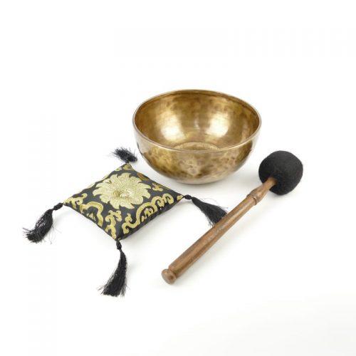 Klangschale gehämmert Gravur Weiße Tara | Klangschale kaufen | Tibetische Klangschale | Klangschalen Shop
