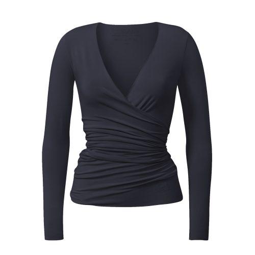 Yoga Jacke – Wrap Jacket von Curare-night blue