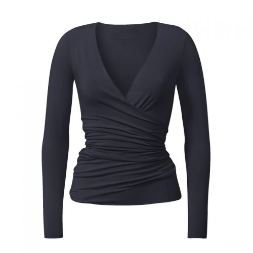Yoga Jacke – Wrap Jacket von Curare-night blue | Yoga Kleidung Damen | Yoga Jacke | Yogabekleidung