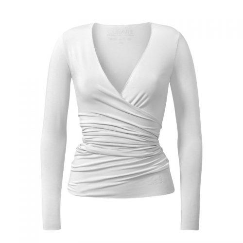 Yoga Jacke – Wrap Jacket von Curare-white | Wickeljacke | Yoga Jacke | Yoga Kleidung | Yogabekleidung