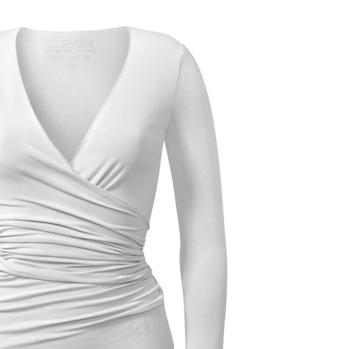 Yoga Jacke – Wrap Jacket von Curare-white