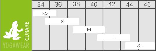 Größen Tabelle Curare