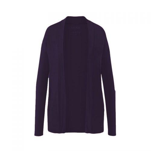 Jacke Open Style Cardigan von Curare-dark-aubergine | Yoga Jacke | Yogajacke | Yoga Jacke kaufen | Yogajacke kaufen