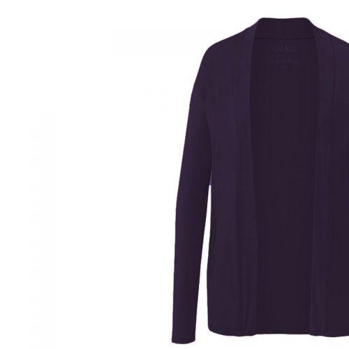 Jacke Open Style Cardigan von Curare-dark-aubergine