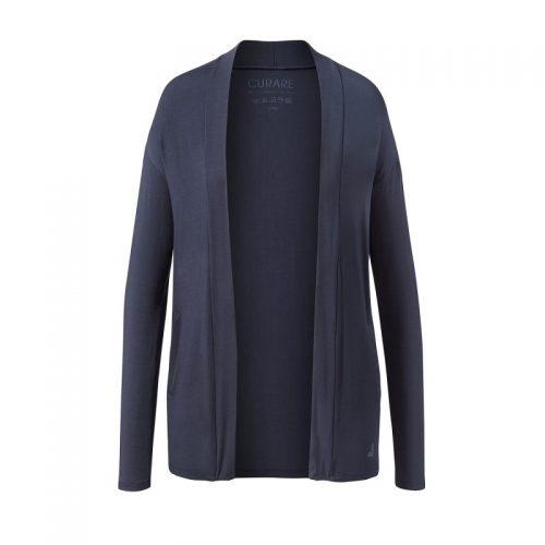 Jacke Open Style Cardigan von Curare-midnight-blue | Yoga Jacke | Yoga Kleidung | Yoga Kleidung Damen | Yoga Kleidung online