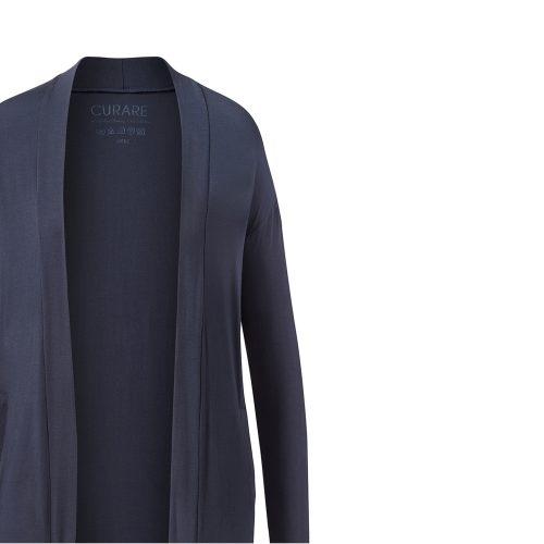Jacke Open Style Cardigan von Curare-midnight-blue