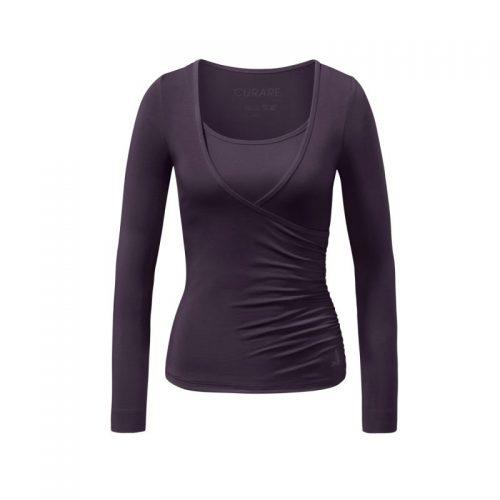 Warp Shirt von Curare-dark-aubergine | Yoga Shirt | Yoga Shirt Damen | Yoga Kleidung | Yoga Kleidung Damen