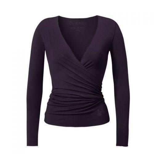 Yoga Jacke-Warp Jacket von Curare-dark-aubergine | Yoga Jacke kaufen | Yoga Jacke | Wickeljacke | Wickeljacke kaufen