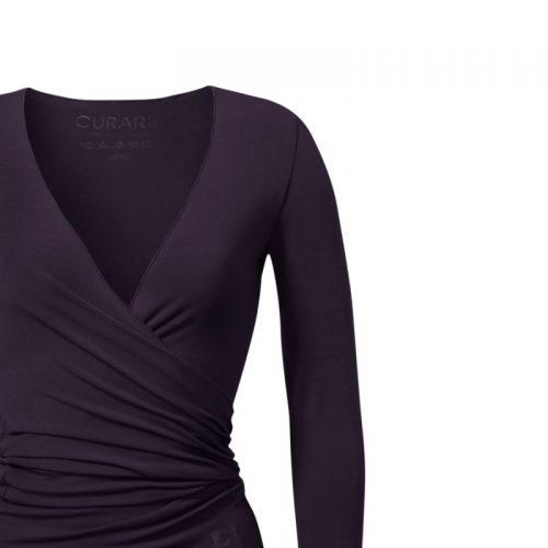 Yoga Jacke-Warp Jacket von Curare-dark-aubergine