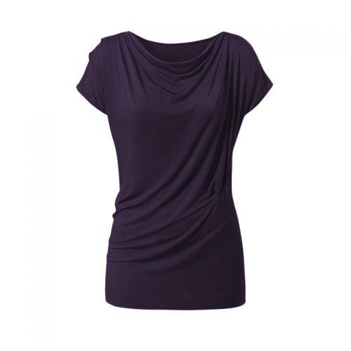 Yoga Shirt Wasserfall von Curare-dark-aubergine | Yoga Shirt | Yoga T-Shirt | Yoga Shirt Damen