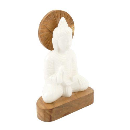 Buddha Figur Alabaster Größe 21 cm | Buddha Figur | Buddha Statue | Buddha kaufen