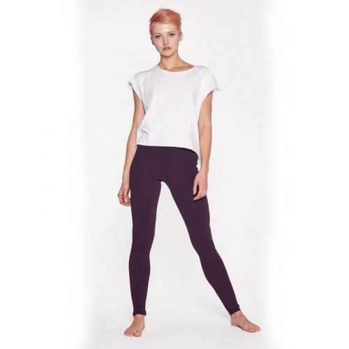 Yoga Leggings von Yoiqi Plain BURGUNDY   Yoga Hose   Yogahose   Leggings   Yoga Pants