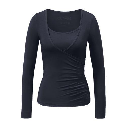 Warp Shirt von Curare-midnight blue | Yoga Kleidung | Curare | Yoga Shirt | Yogabekleidung | Yoga Shirt Damen