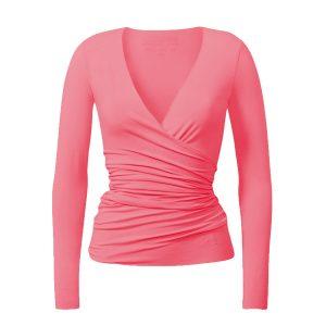 Yoga Jacke – Wrap Jacket von Curare – coral rose