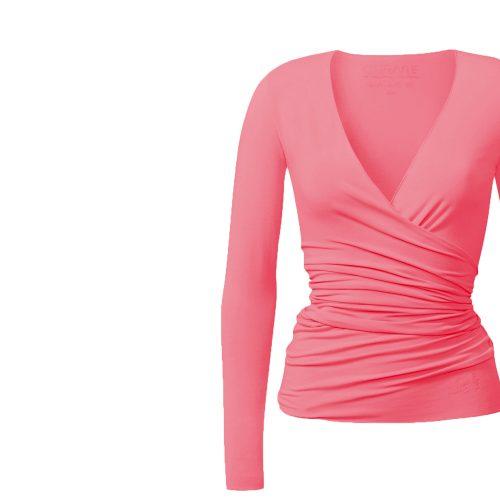 Yogashirt | Warp Jacket von Curare-coral-rose