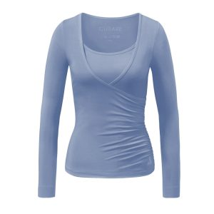 Yoga Shirt – Wrap Shirt von Curare | blue moon