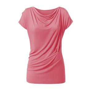 Yoga Shirt – Wasserfall von Curare – coral rose