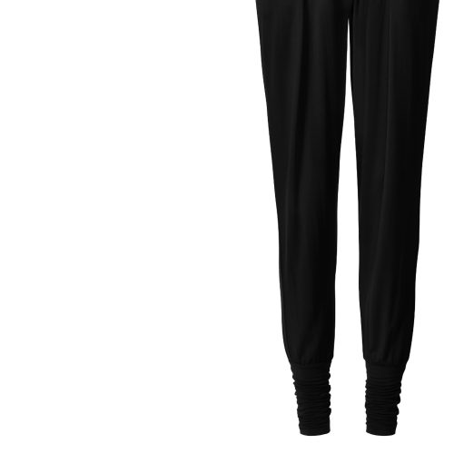 Yogahose Wide Pants, cuffs von Curare-black