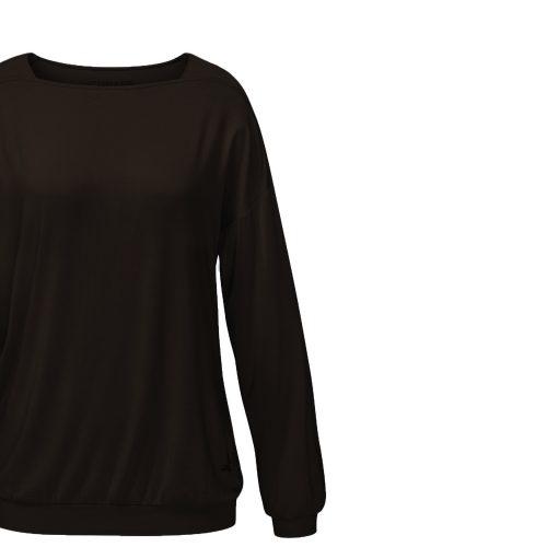 Yoga Shirt Langarm-Karree von Curare - chocolade