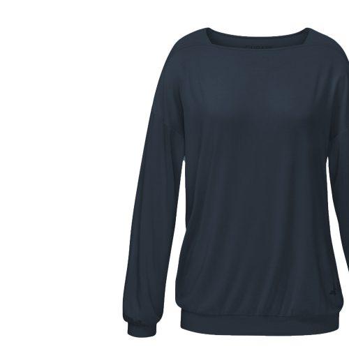 Yoga Shirt Langarm-Karree von Curare - ocean blue