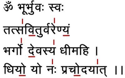 Mantra OM und Gayatri Mantra - Erklärung Schriftzeichen