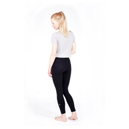 Yoga Leggings 7/8 von Yoiqi - Soft Black Bio Back
